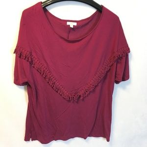 5/$20 Charming Charlie Size M Burgundy Knit Top